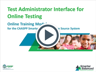 Test Administrator Interface for Online Testing