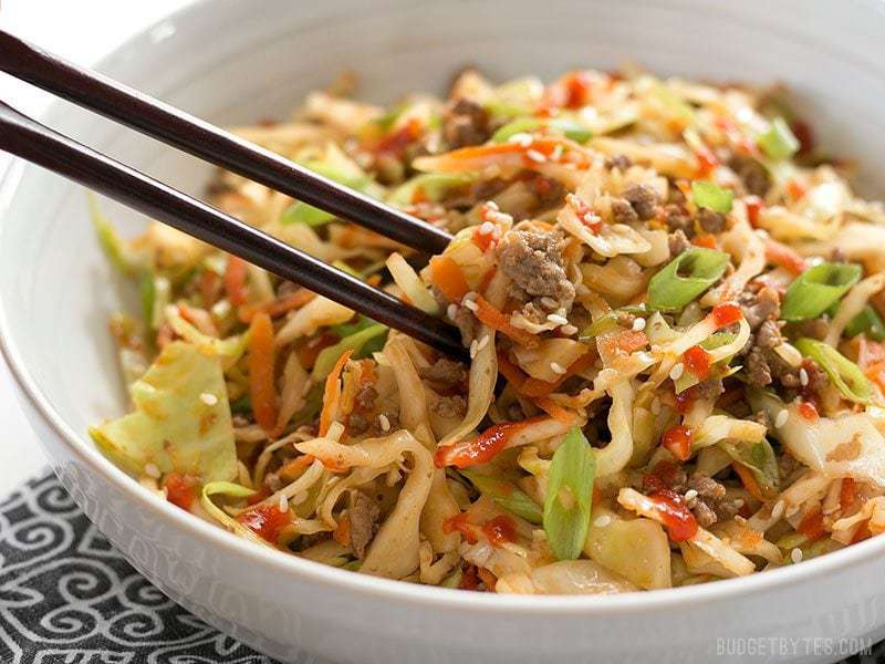 Beef and Cabbage Stir Fry - with VIDEO - Budget Bytes