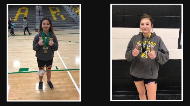 Double the trouble: Sisters make history for Diamond's wrestling program