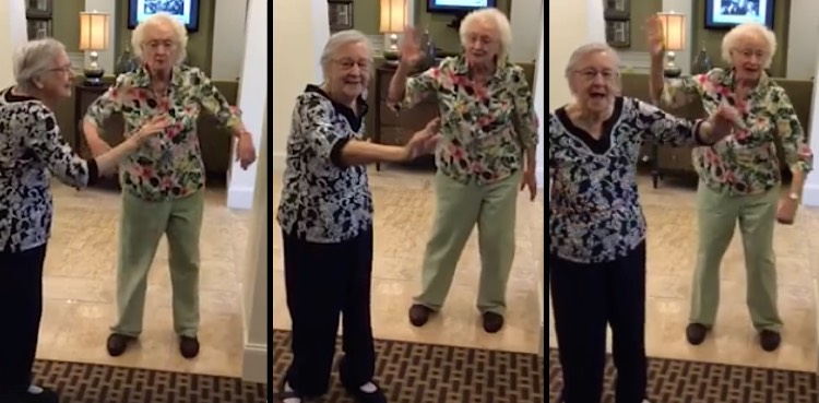 Watch These Two Assisted Living Ladies Do the Whip and Nae-Nae - Good News Network