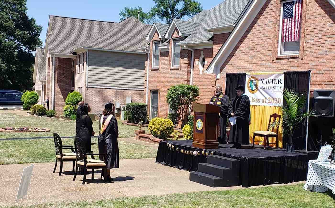 Devoted Dad Surprises Graduating Daughter With Front Yard Ceremony After Hers Was Canceled