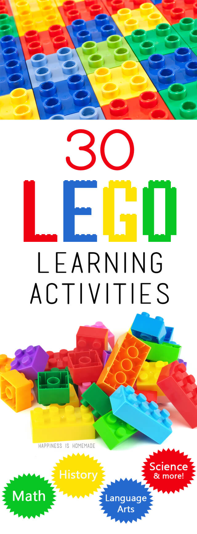 30 LEGO Learning Activities - Happiness is Homemade