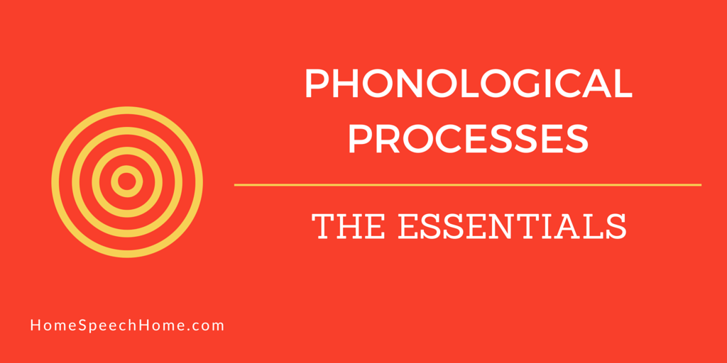 Phonological Processes Are Different From Articulation Disorders