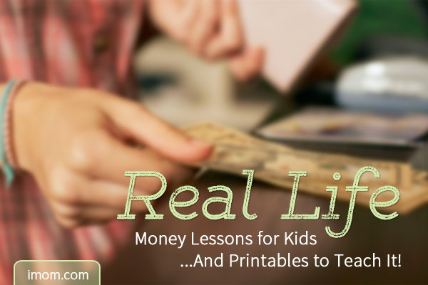 A Real Life Money Lesson for Kids... And Printables to Teach It! - iMom