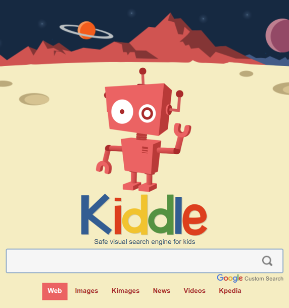 Kiddle - visual search engine for kids, powered by Google