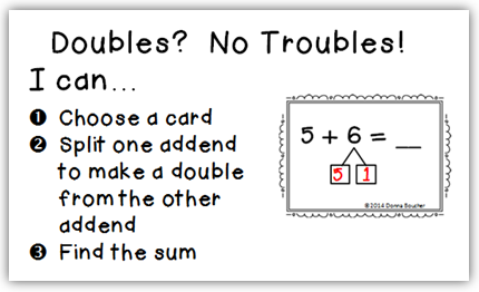 The Using Doubles Strategy for Addition - Math Coach's Corner