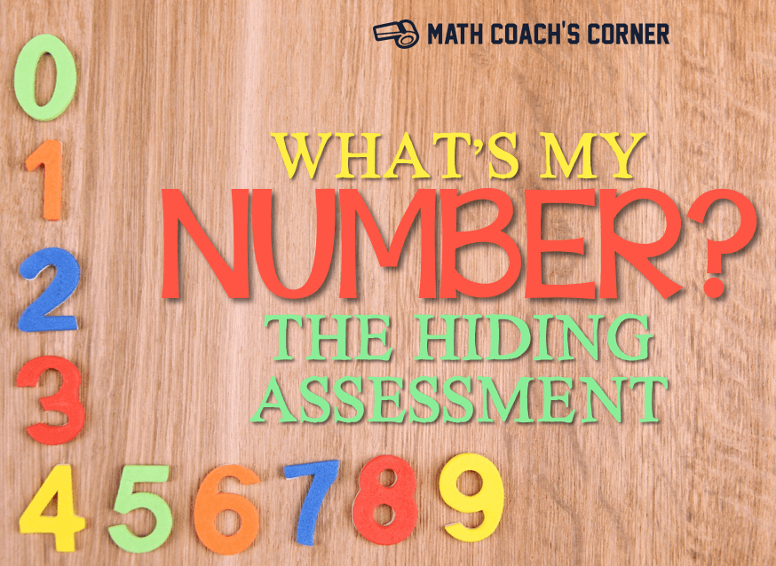 What's My Number? Differentiating in K-1 - Math Coach's Corner
