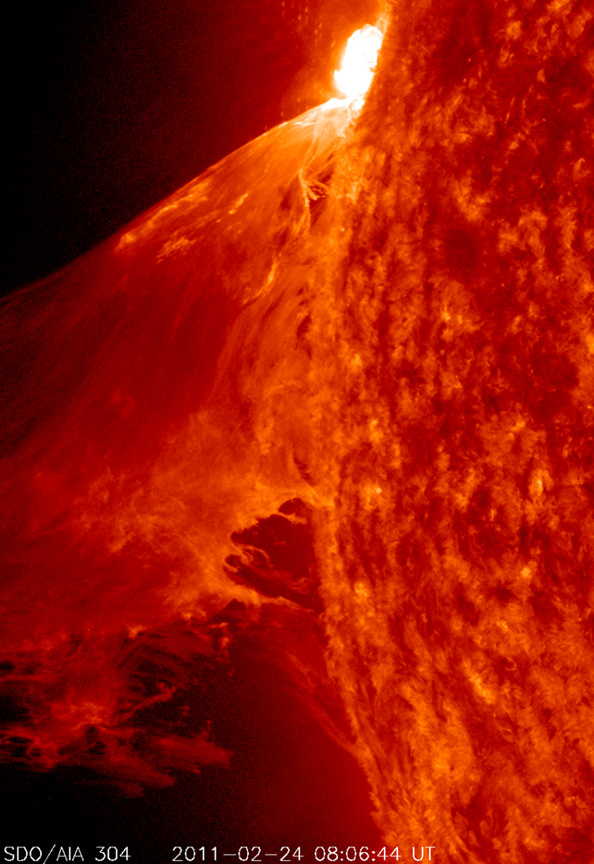 Monster Prominence Erupts from the Sun