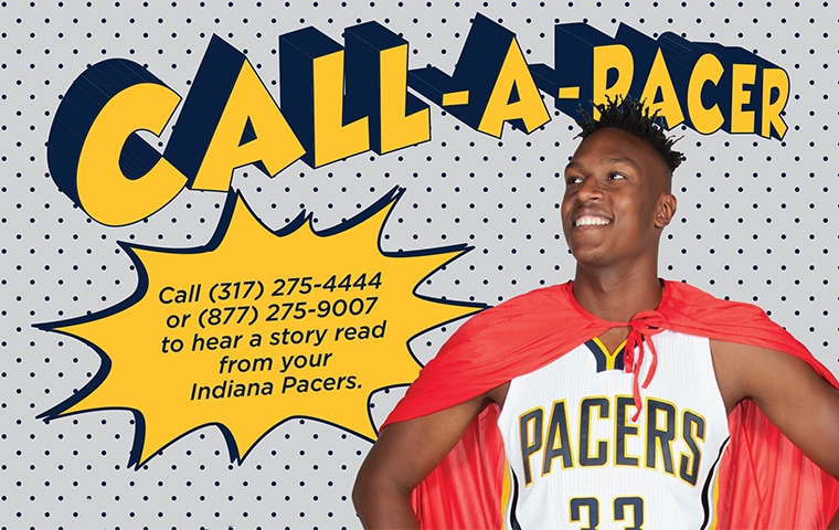 Pacers, Indianapolis Public Library Team Up Once Again for Call-A-Pacer