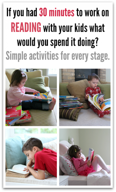 If you have 30 extra minutes to work on literacy what would you spend it doing? Simple ways parents can help their kids read.  - No Time For Flash Cards