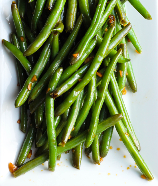 Cold Garlic & Sesame Soy Marinated Green Beans - Table for Two® by Julie Wampler