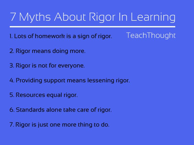 7 Myths About Rigor In The Classroom