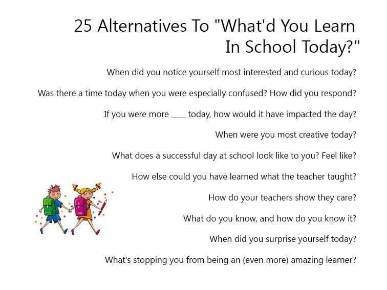 25 Alternatives To What'd You Learn In School Today?