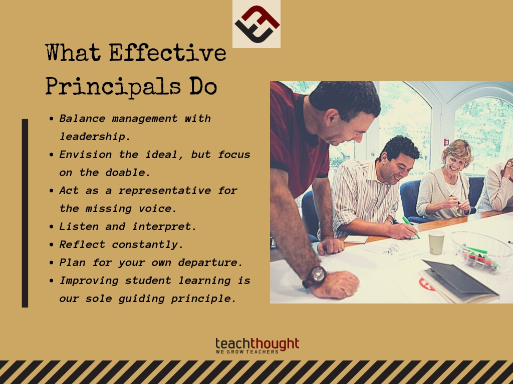 What Effective Principals Do