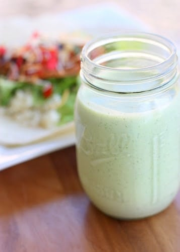 Cafe Rio's Creamy Tomatillo Dressing - The Girl Who Ate Everything