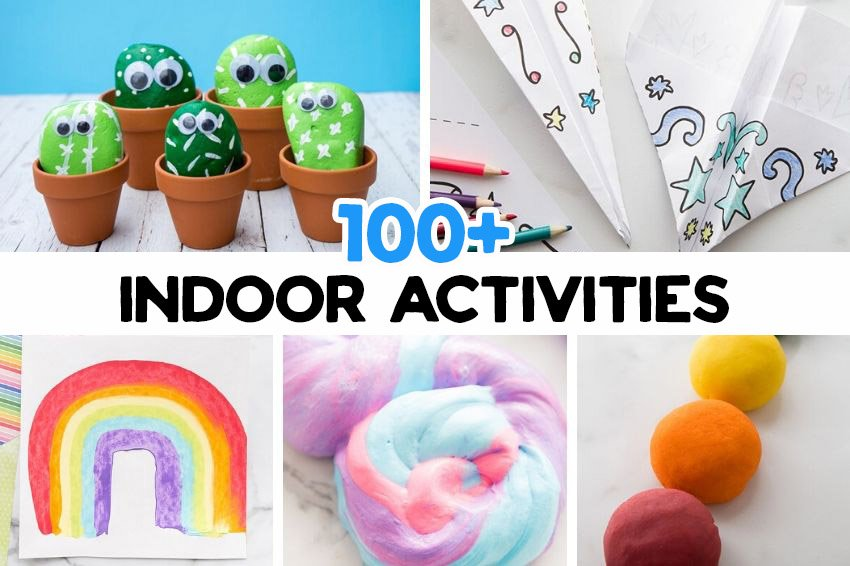 100+ Indoor Activities for Kids (with Free Printable)- The Best Ideas for Kids