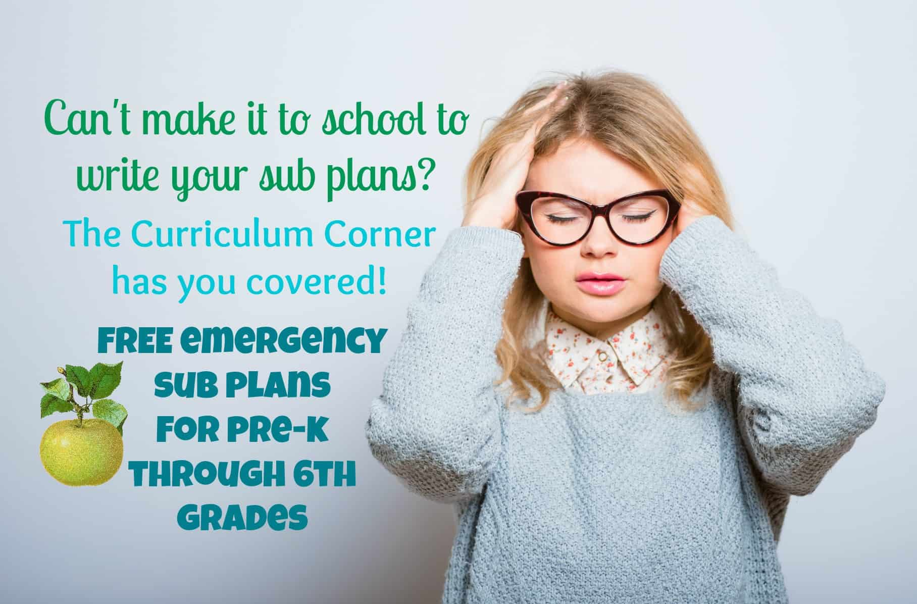Pre-K - 6th Grade Emergency Sub Plans - The Curriculum Corner 123