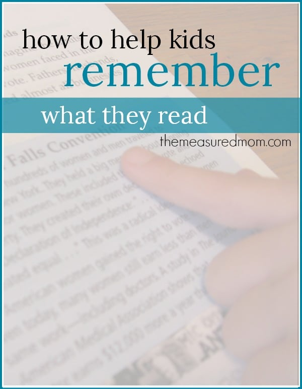 A reading comprehension strategy to help kids remember what they read - The Measured Mom