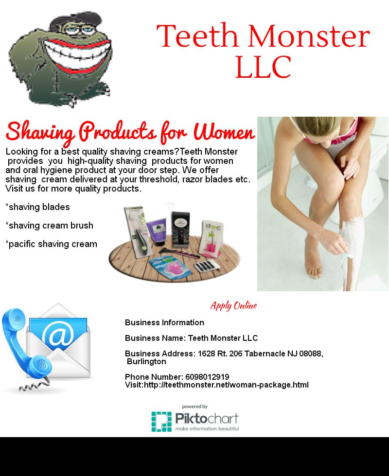 Teeth Monster-Shaving Products for women Uploaded by Teeth.Monster at Your Listen